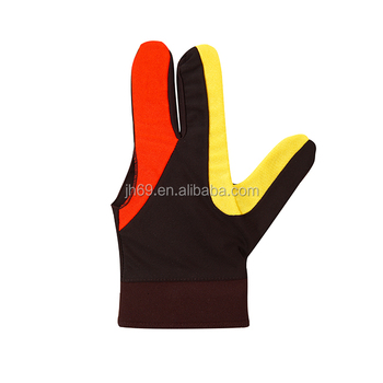 Nylon 3 Fingers Glove for Billiard Pool Snooker Cue Shooter Black