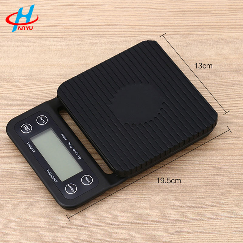 3kg /0.1g Household kitchen scale Electrical digital coffee scale with Timer