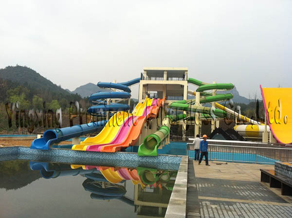 Long fiberglass water slide tubes for sale