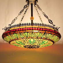 "S079G20D01 of Antique 20"" tiffany ceiling lamp factory manufacturer for wholesale"
