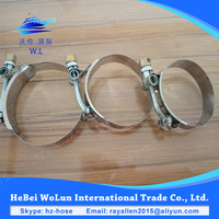 Strong T bolts hose end clamps silicone hose clamp