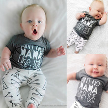 INS 2017 Summer Baby Boy Clothing Sets Letter Plaid Printed Kids Clothes High Quality Children Clothing
