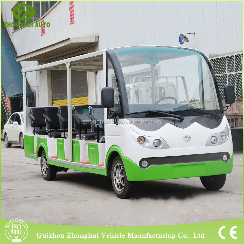 Luxury design 14 person mini airport passenger bus electric tourist car