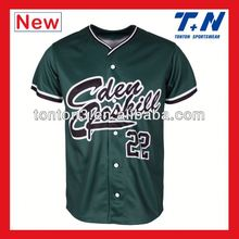dye sublimation fishing jersey/baseball shirts