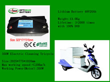 Electric trolley battery 48V20Ah with carrying handles