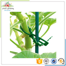 Plastic reusable Self Locking Zip Tie green color for garden tree accessory