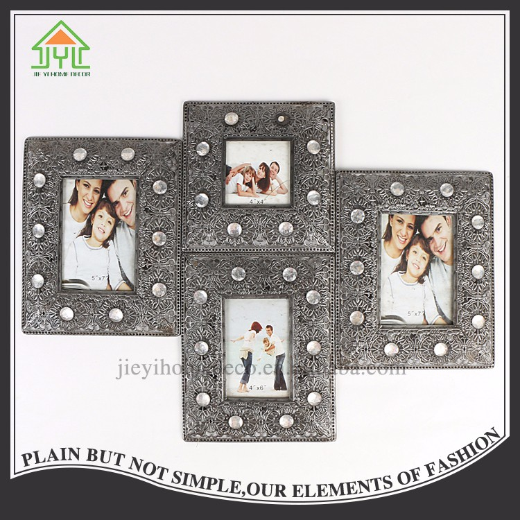 China 4 Sets Square Metal Wall 5X7 Picture Frame