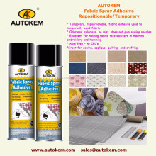 Temporary/ Repositional/ Resticable Fabric Spray Adhesive, Pressure sensitive / Colourless adhesive spray