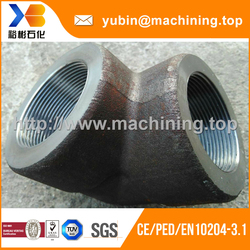 Factory customized forged AISI410 90 degree elbow for pipe fittings