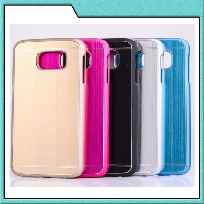 Luxury Brushed Metal + PC Case Cover For Samsung Galaxy S4 S5 S6 Edge Note 3 4