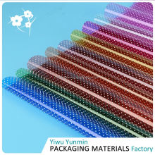 High end different patterns Crystal Fiberglass dot wrapping piece or roll paper