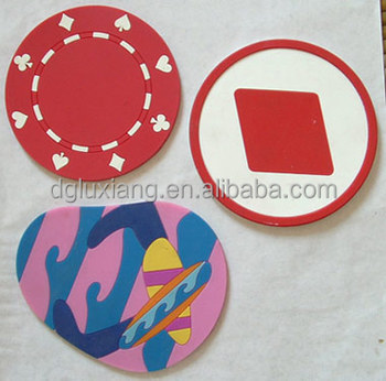 non slip frrit shaped silicone cup mat, table mat