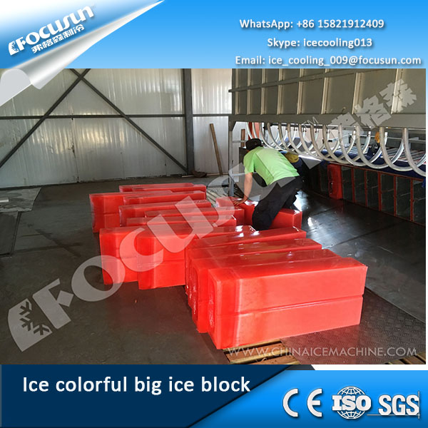 Ice making machine for colorful big ice block