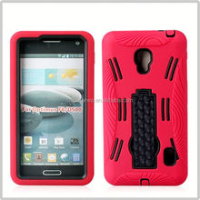 2014 high quality for lg optimus f6 d500 pc silicon super combo case