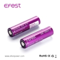 Wholesale v fest IMR18650 2500mah 35A 3.7V purple battery shenzhen made battery fast USA shipping