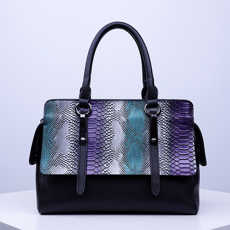 Teen <strong>designer</strong> handbags high quality pu bags newest handbag with snake skin sh957