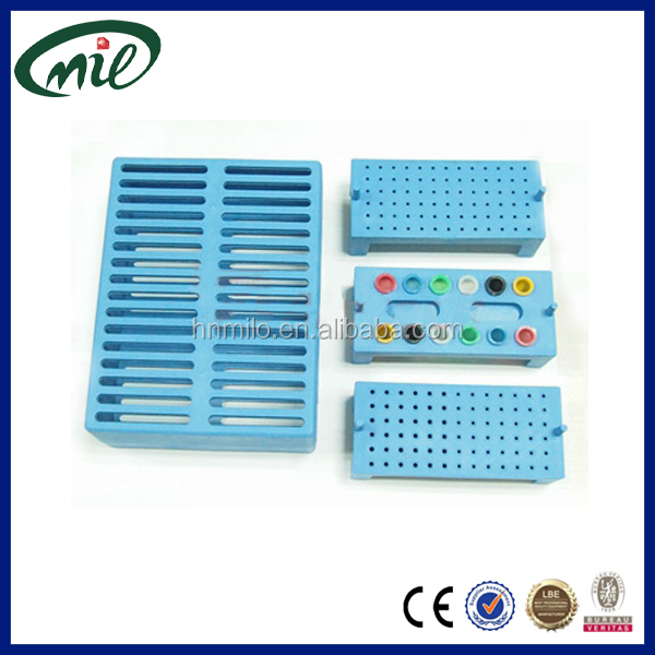 Three-core opening dental autoclave box Plastic bur holder,endo file organizer