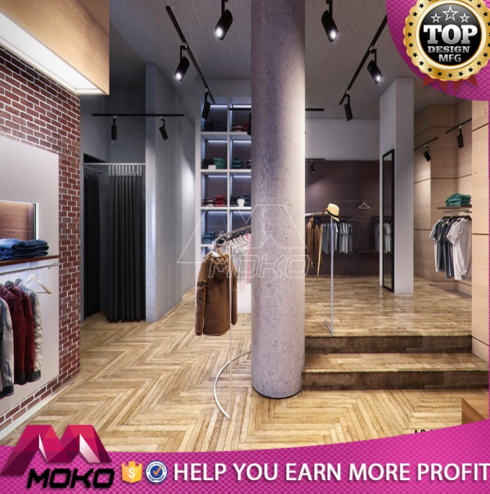 Retail garment shop baby clothes store 3d max interior design furniture used for clothes shop