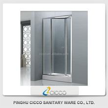 Germany Fashionable Glass Shower Screens For Wet Rooms/Stripe Frosted Glass