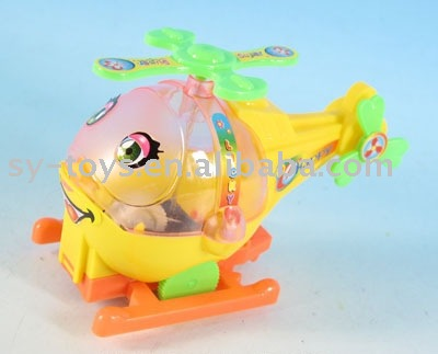 Mushroom cartoon cable car with ringing / 3 colors mixed