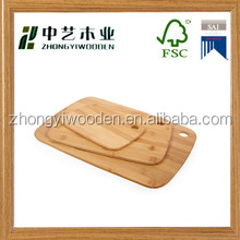 factory price FSC custom wooden 3 pcs cutting board for For Meat & Veggie Prep, Serve Bread, Crackers & Cheese