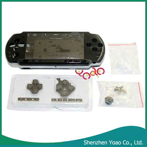 For PSP3000 Front Back Faceplate+Buttons Repair Part Black