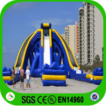 custom new gaint inflatable hippo commercial used water slide for sale