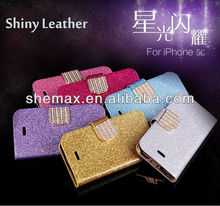 Luxury Book Style PU Leather Case for iphone 5c Stand Wallet with Card Holder 2013 New Arrival