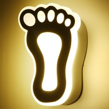 Unique Footprint Wall Lamp Creative Bedroom Study Wall Lamps Warm Light Bedside Lights Creative Living room Lighting