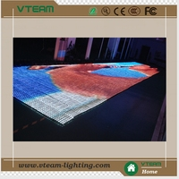 2014 Vteam Full Color Curtain display Usage transparent led display/soft LED screens/flexible curtain