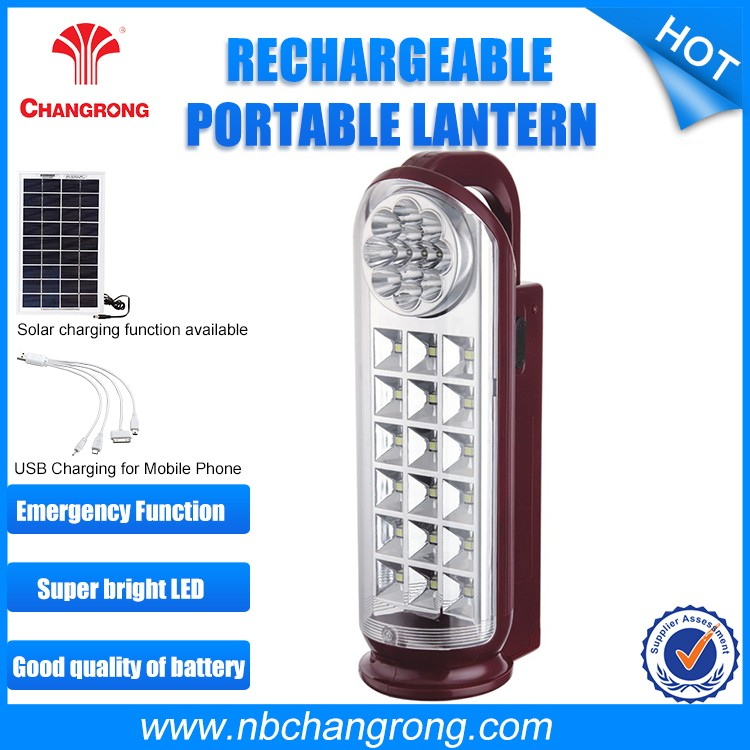 Changrong 2016 hot-selling battery rechargeable hand lamps/rechargeable led emergency light with 13led torchlight