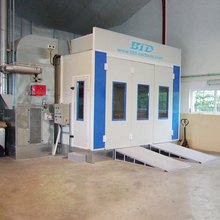 2018 BTD auto painting drying spray booth full downdraft car oven
