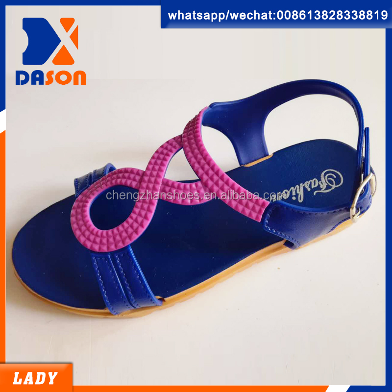 new design flat lady sandals in pcu