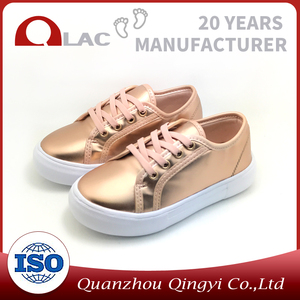 High quality pu girl shoes wholesale China kid shoes