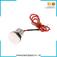 19mm series angel eye metal piezoelectric switch with led red green waterproof IP67 reset /latching led lighting switch 24V
