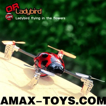 EU-QRL mini rc ladybird 4CH Four-blade Ladybird with Onboard Telemetry System