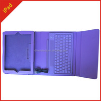 Guangzhou supplier flip case for ipad leather with keyboard, flip leather cover stand with keyboard case for ipad