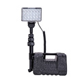 72W led road safety flashing light high power portable battery floodlight