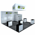 Detian Offer car portable booth exhibition booth design trade show display kiosk exhibition stands 10*20 backwall drop