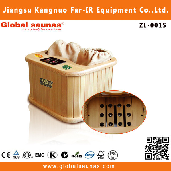 portable far infrared wooden foot ir sauna for detox ZL-001MINI
