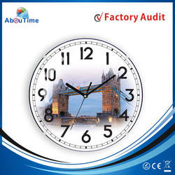 Tempered Glass Wall Clock Artistic Design /Dial Design Decorative Wall Mirror