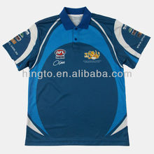 Short Sleeves Sublimated Polo Shirts Coaching T shirts Coolmax