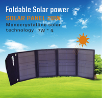 0425 Recommendation~Monocrystalline 28 Watt of Portable Solar Panel For outdoor or Cell phone