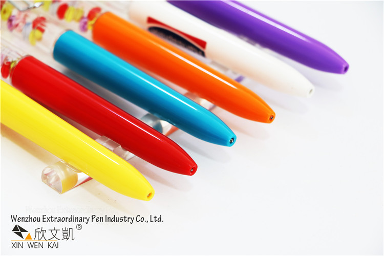 March Expo Promotional 3D Floater Custom Design Novelty Plastic Liquid Floating Pen