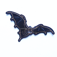 Vampire bat embroidery patch,personalized patches embroidery,iron patches for clothing arms
