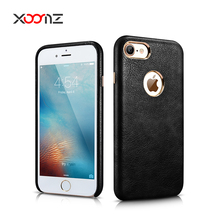 XOOMZ 2017 Luxury PU Leather Back Cover Phone Case for iPhone 7 7 Plus,for iPhone 7 cover