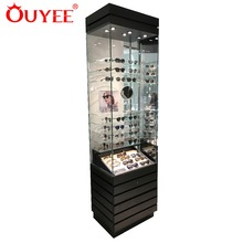 Glass Jewelry Display Kiosk Furniture Steel Store Modern Shop Counter Design Cabinet Showcase