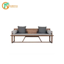 s29 hotel Simple Design Fabric 3 Seater Soft And Comfortable Tv Lounge Wooden Sofa