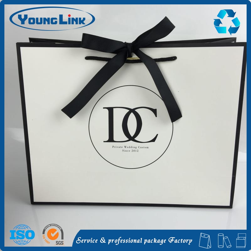 Promotional custom logo energy saving led light paper bag