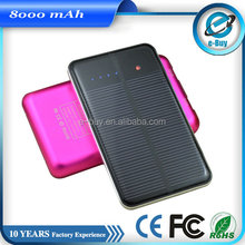 unique factory direct deal 10000mah solar power bank for cell phone